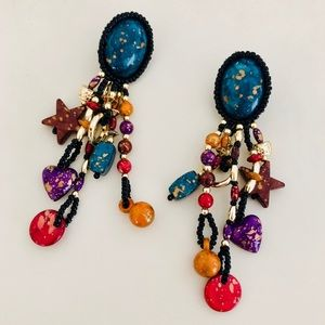 Jewelry - Vintage Colorful Earrings